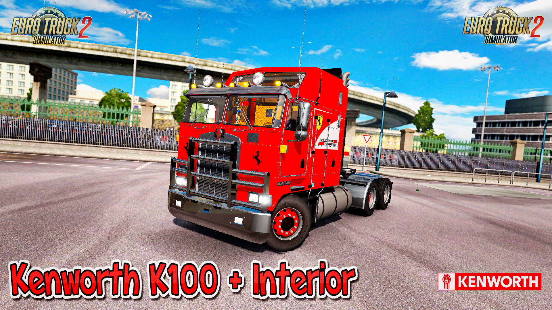 Kenworth K100 + Interior v1.0 (1.26.x)