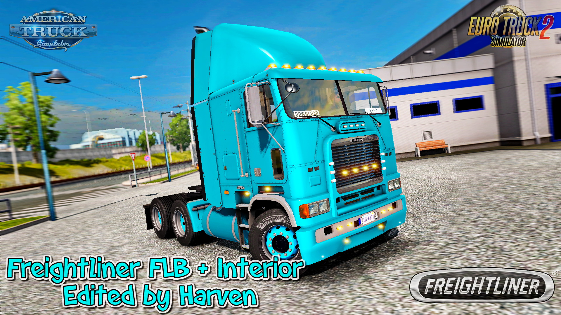 Freightliner FLB + Interior v2.0.3 Edit by Harven (1.32.x)