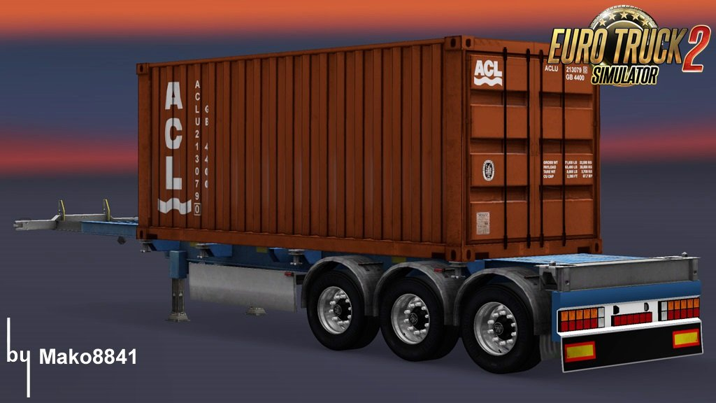 Trailer Container Atlantic Container Line by mako8841