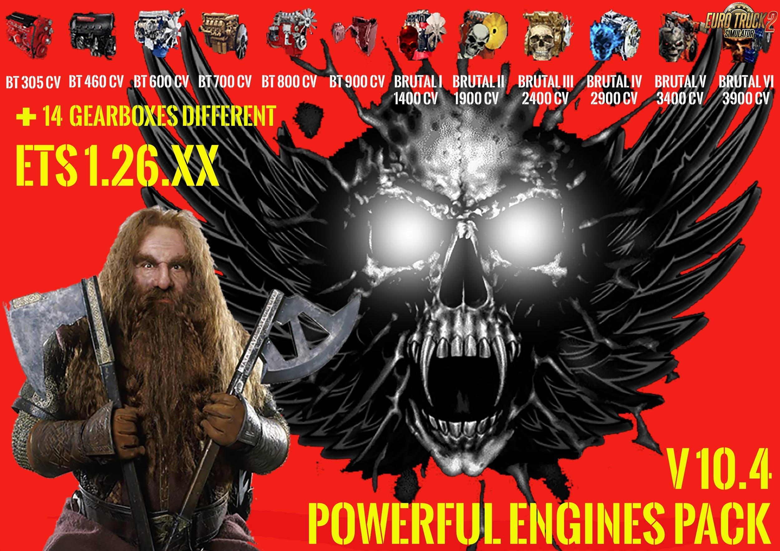 Pack Powerful engines + gearboxes v10.4 [1.26.x]