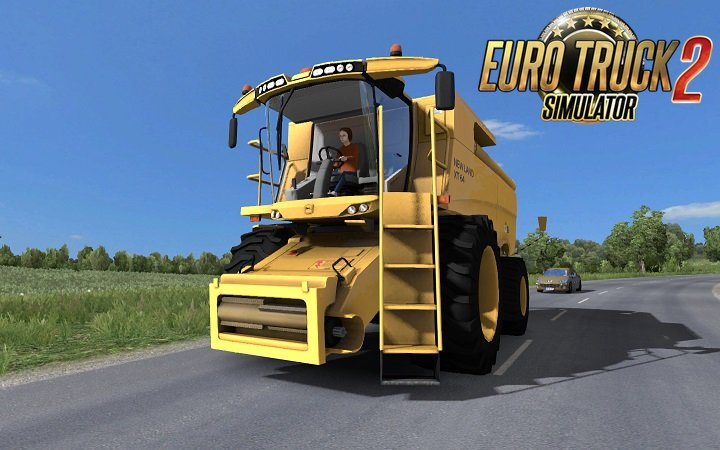 Tractor with trailers in traffic for DLC France v3.4 [1.27.x]