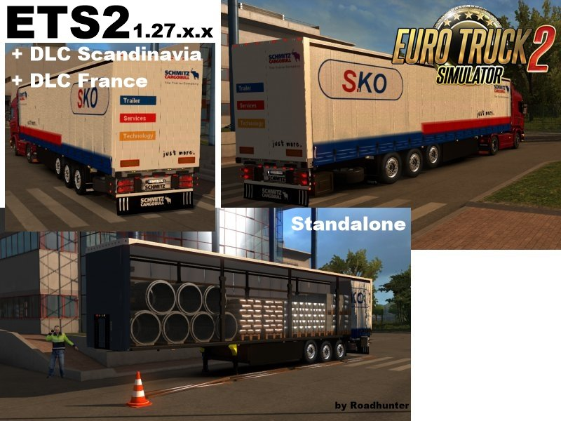 Schmitz S.KO flatbed trailer with building material v3 [1.27.x]