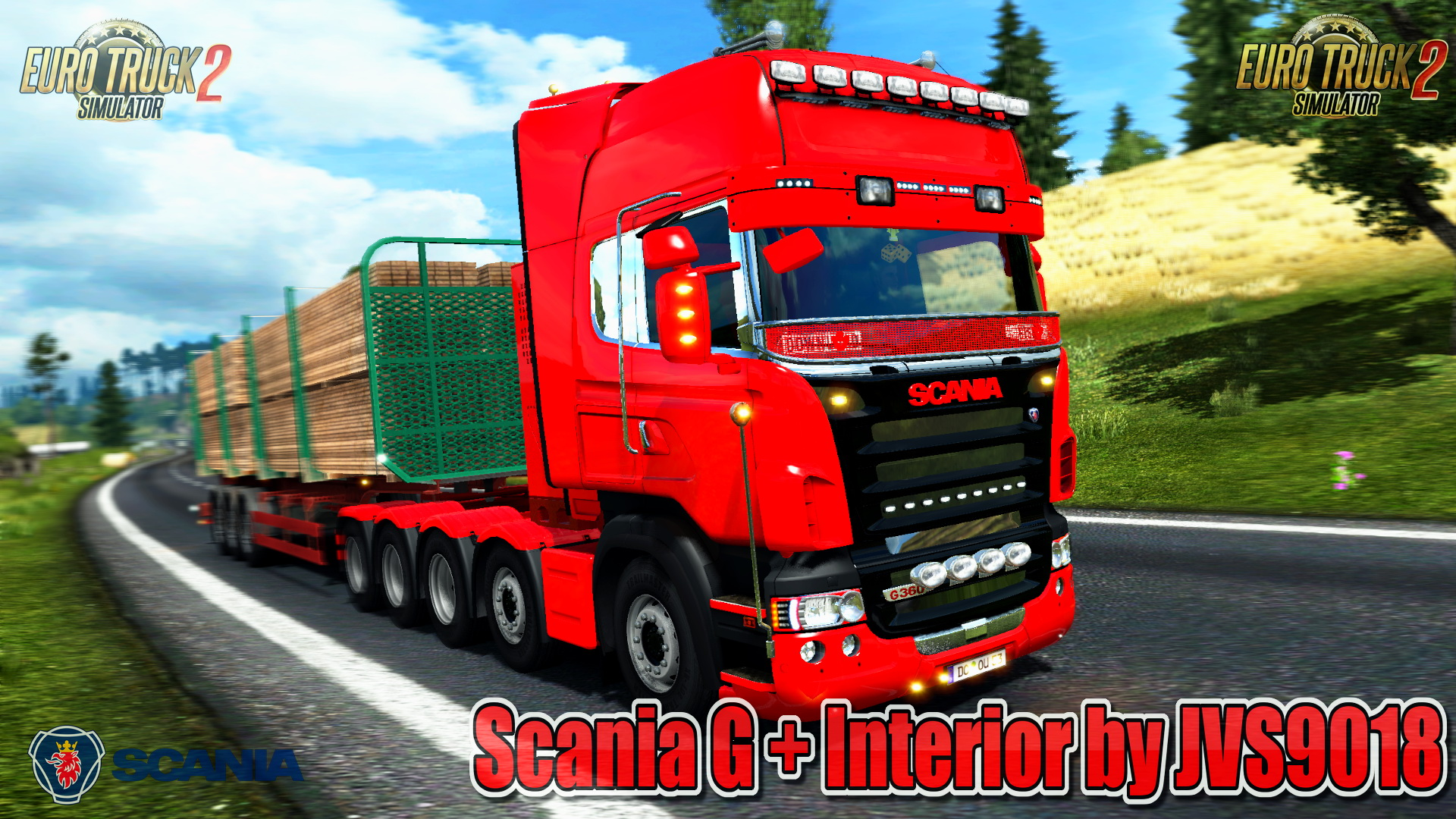 Scania G + Interior v1.0 by JVS9018  (1.27.x) - Euro Truck Simulator 2