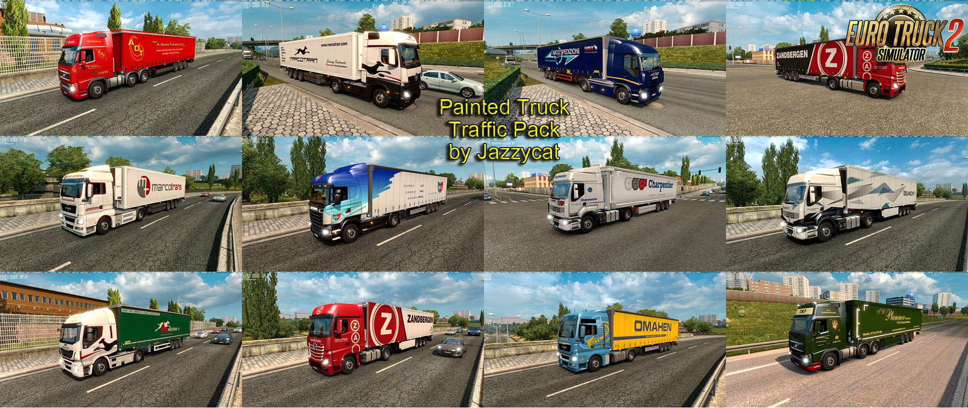 Painted Truck Traffic Pack v3.4 by Jazzycat [1.27.x]