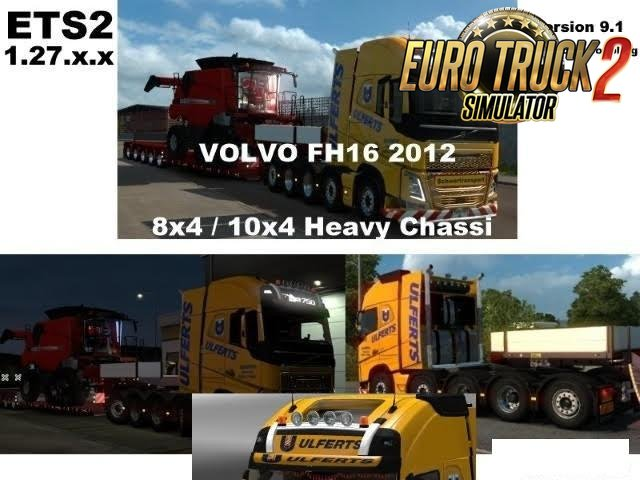 Volvo FH 2012 8×4 and 10×4 v9.1 [1.27.x]