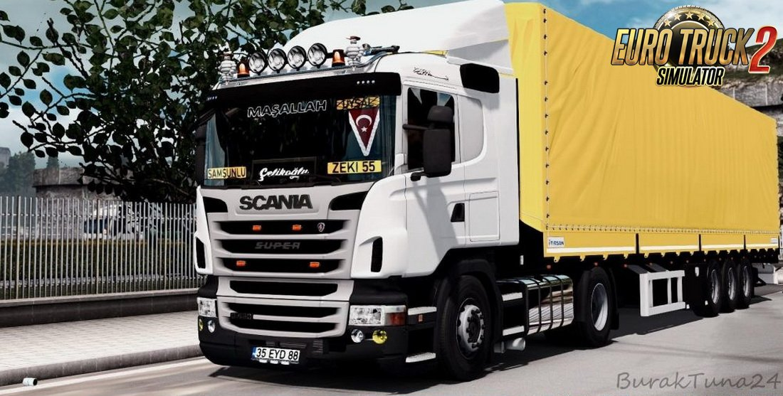 Scania G420 + Interior + Trailer Tırsan v3.0 (1.27.x)
