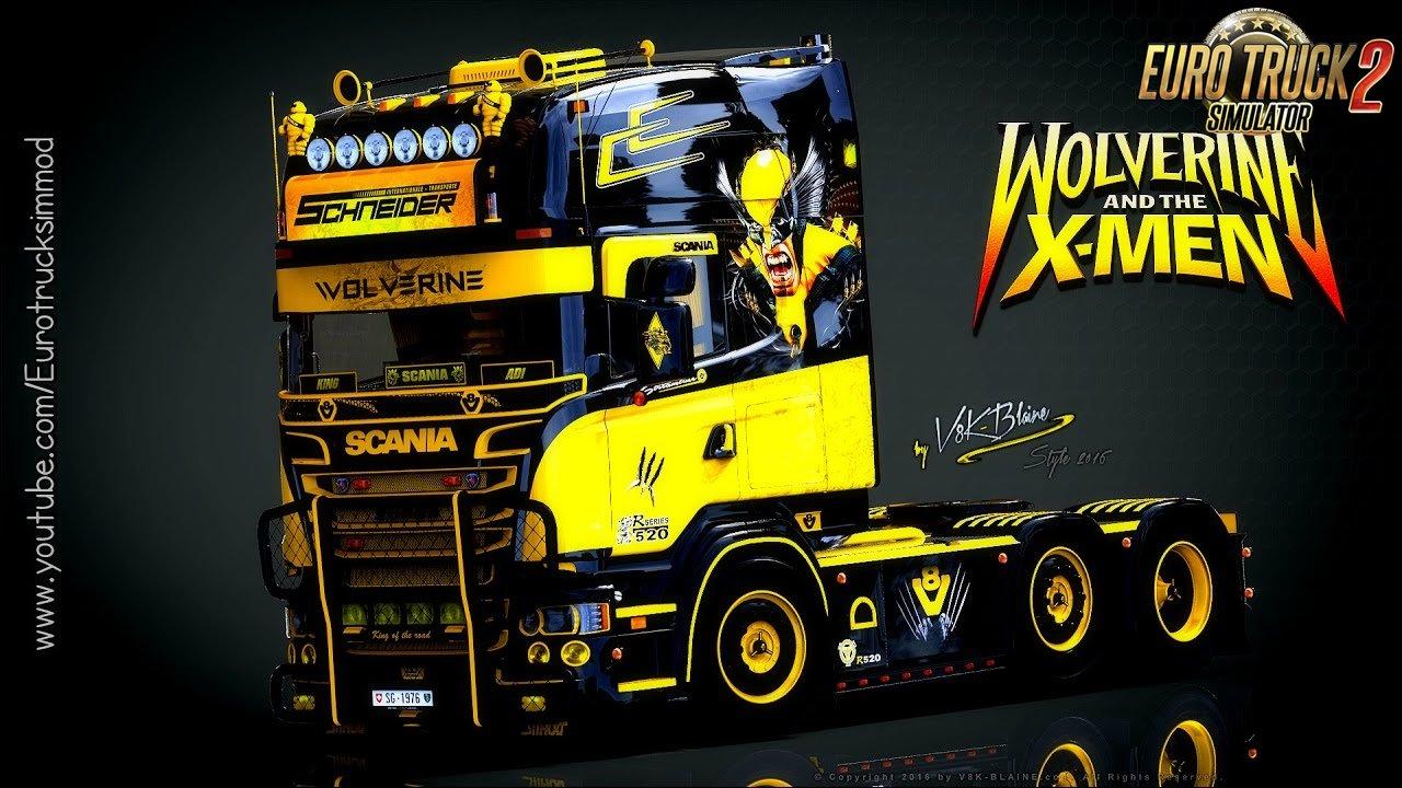 Scania V8K-Blaine R520 Wolverine Edition - Euro Truck Simulator 2