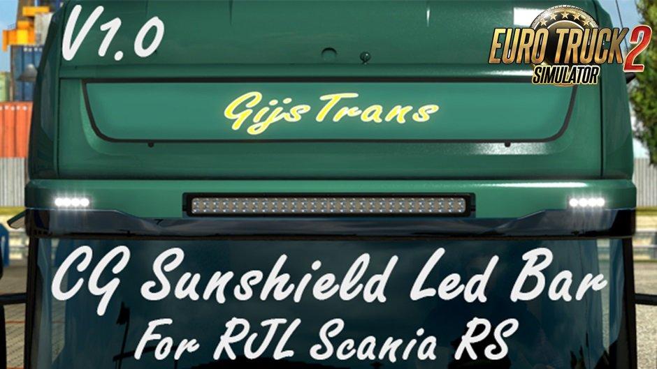 CG Streamline sunshield with led bar v1.0 for Ets2