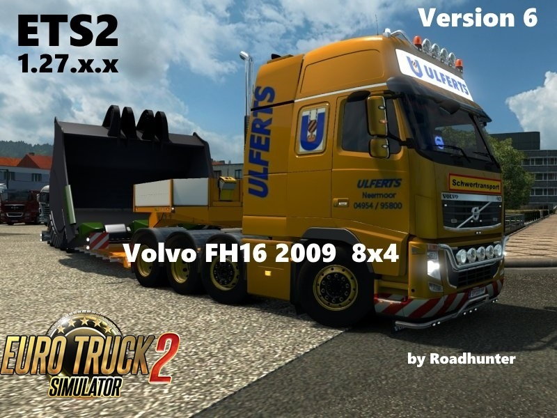 Volvo FH 2009 8×4 Ulfers v6 for Ets2