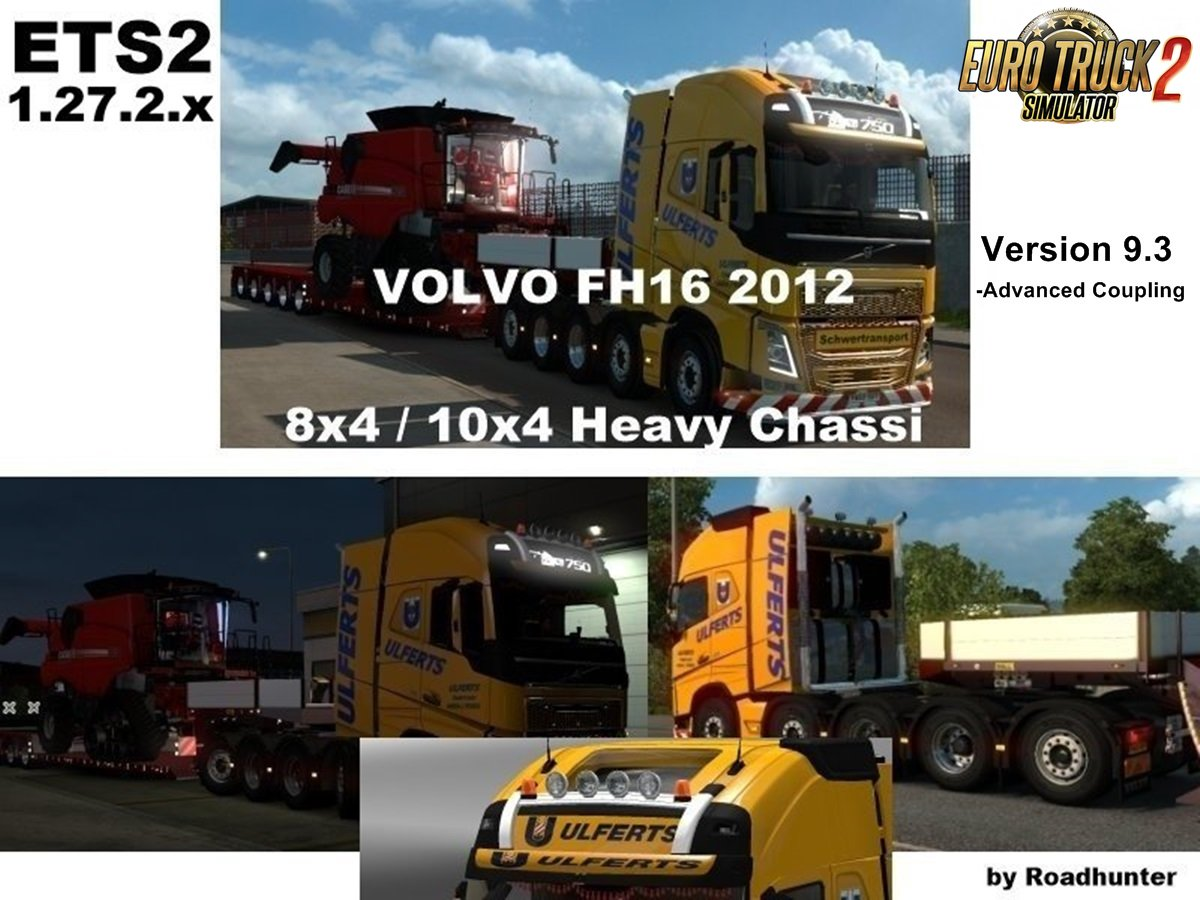 Volvo FH 2012 8x4 and 10x4 v9.3 [1.27.2.x]