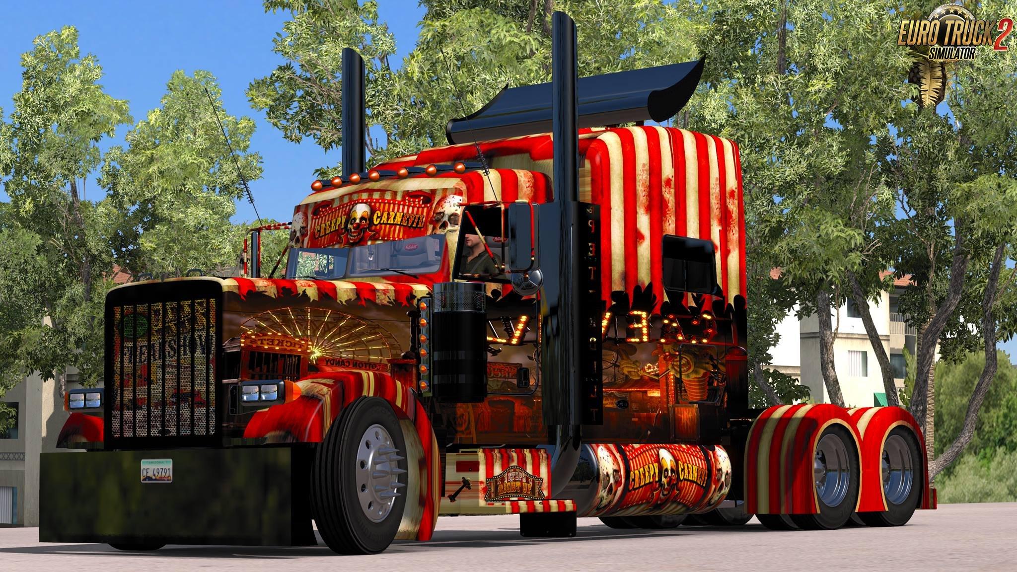 Skin Creepy Carnevil for Modified Peterbilt 389 v2.0.9 (1.27.x)