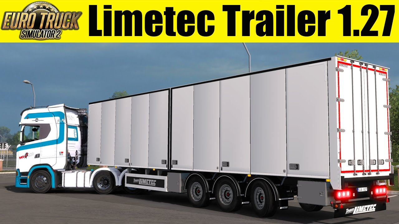 Trailer Limetec with Steering Axes (1.27.x) - Euro Truck Simulator 2