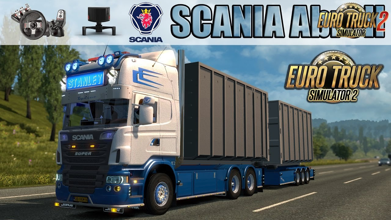 Scania R Abroll + Tandem + Load container v1.0 (1.27.x)