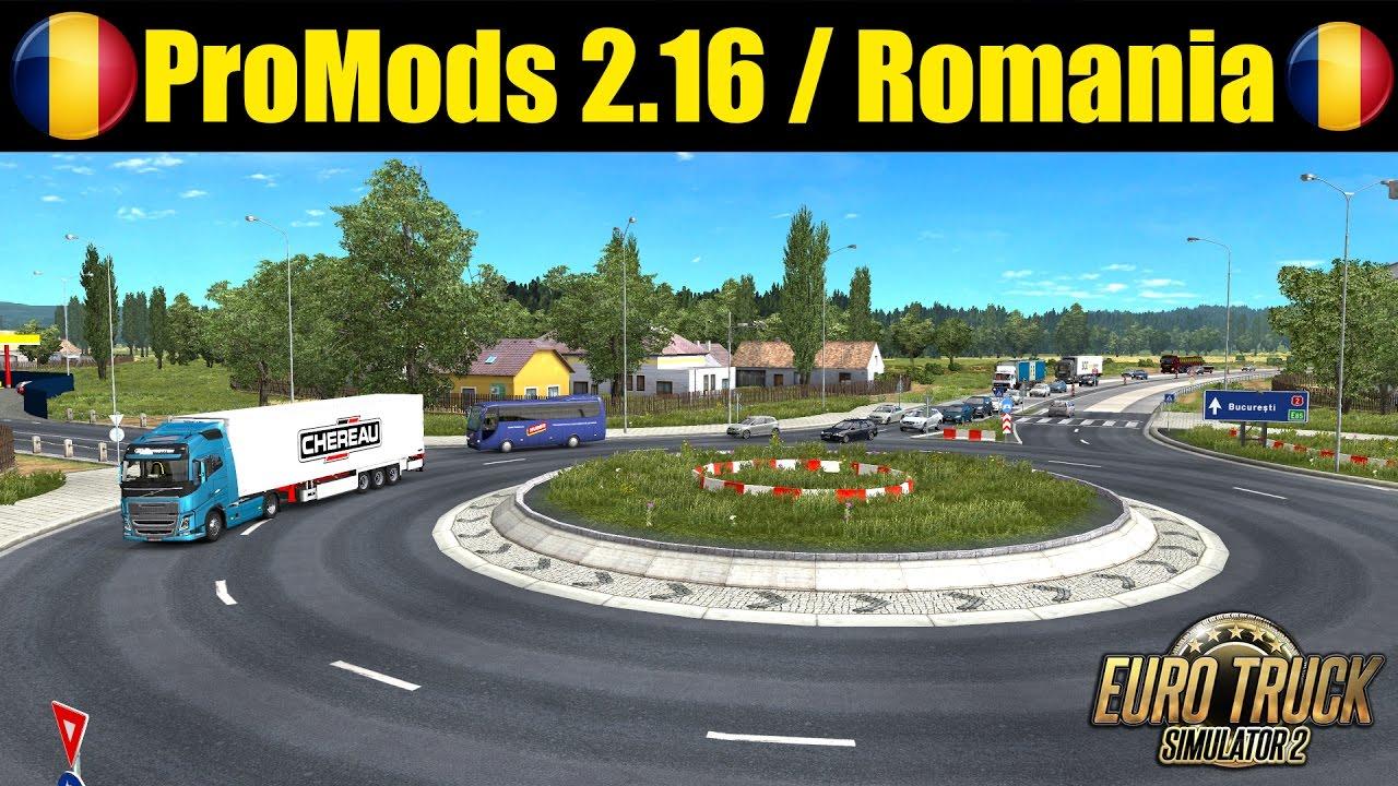 Volvo FH 16: Romania / Bucuresti - Piatra Neamt on ProMods 2.16 - Euro Truck Simulator 2
