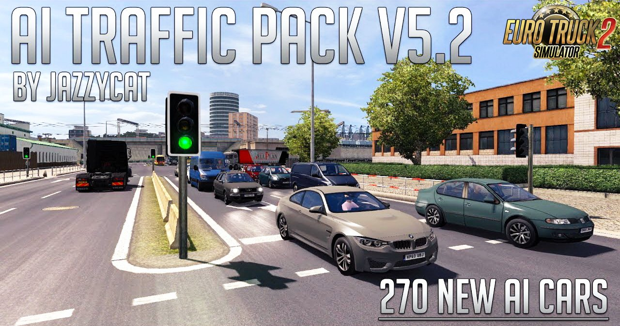 AI Traffic Pack v5.2 by Jazzycat (1.27.x)