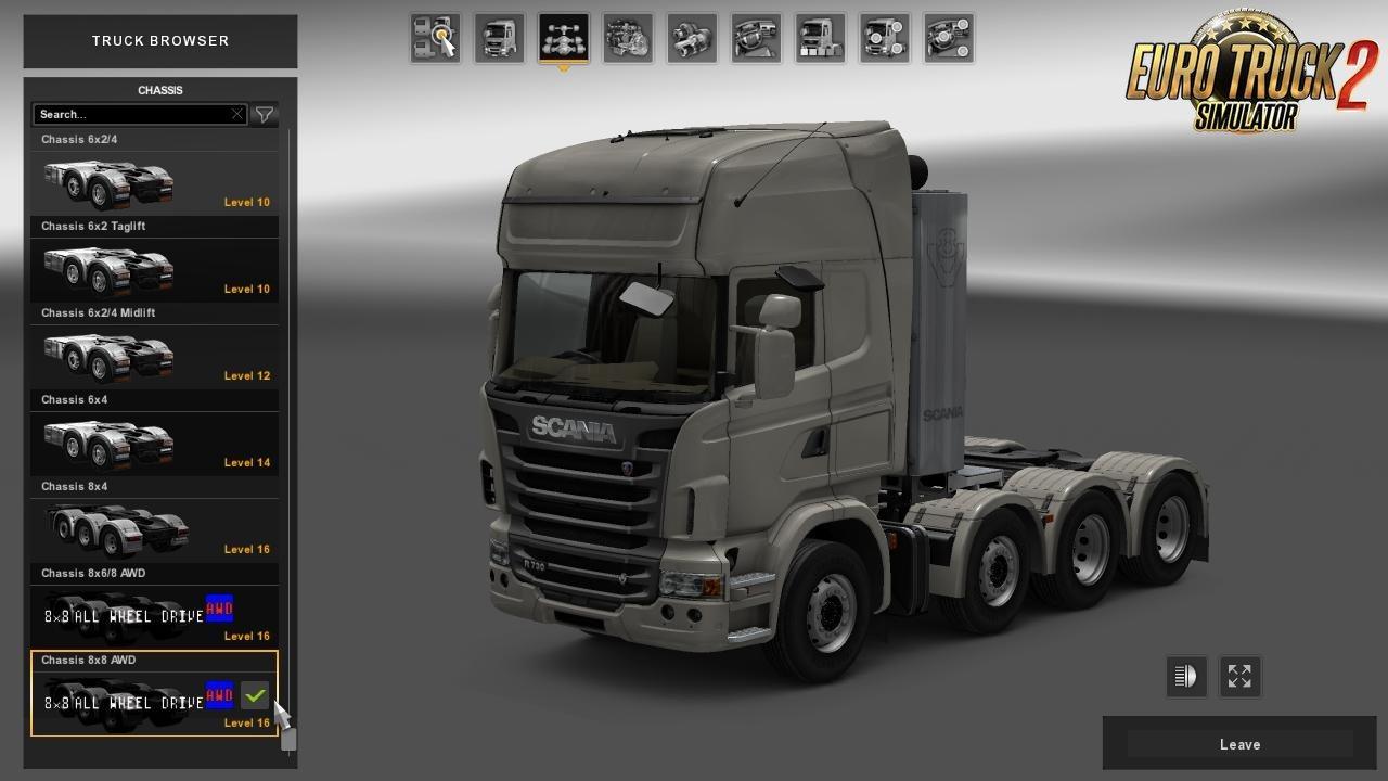 8x8 all wheel drive truck v1 0 ets2 mods euro truck simulator 2 truck mods scs mods. Black Bedroom Furniture Sets. Home Design Ideas
