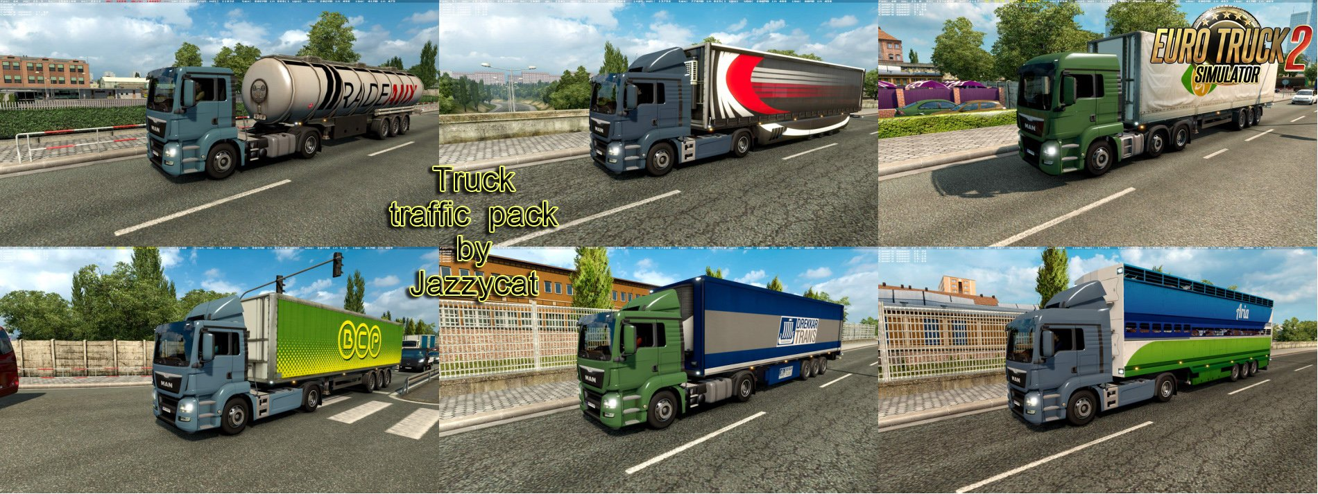 Truck Traffic Pack v2.8 by Jazzycat (1.28.x)