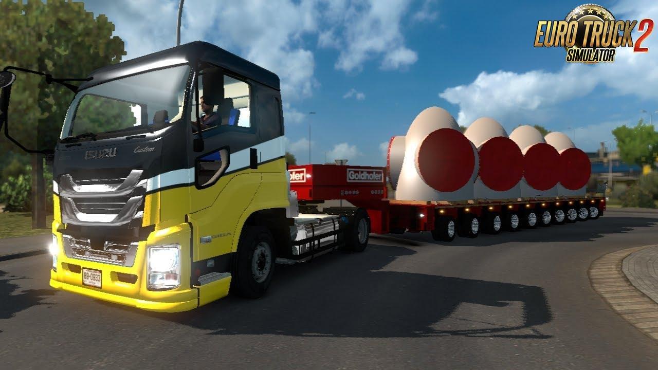 Isuzu Giga Truck + Interior v1.1 (1.39.x) for ETS2