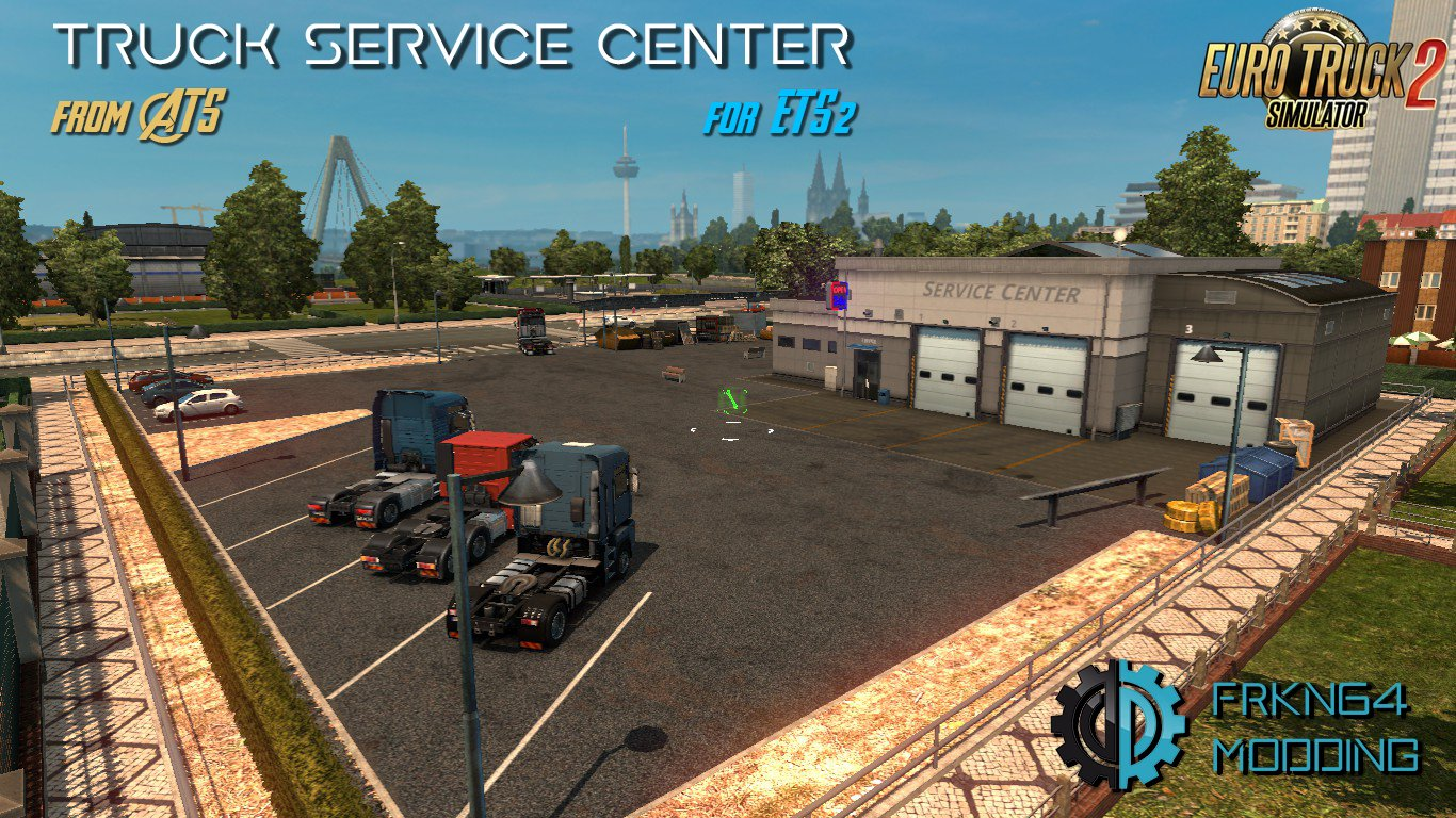 Truck Service Center v1.4  by Frkn64 Modding