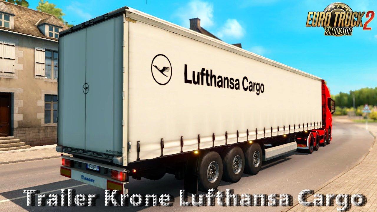 Trailer Krone Lufthansa Cargo v1.0 by Nikola (1.27.x)