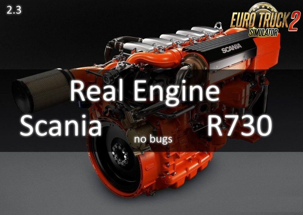 Real Scania R730 Engine Power for Ets2