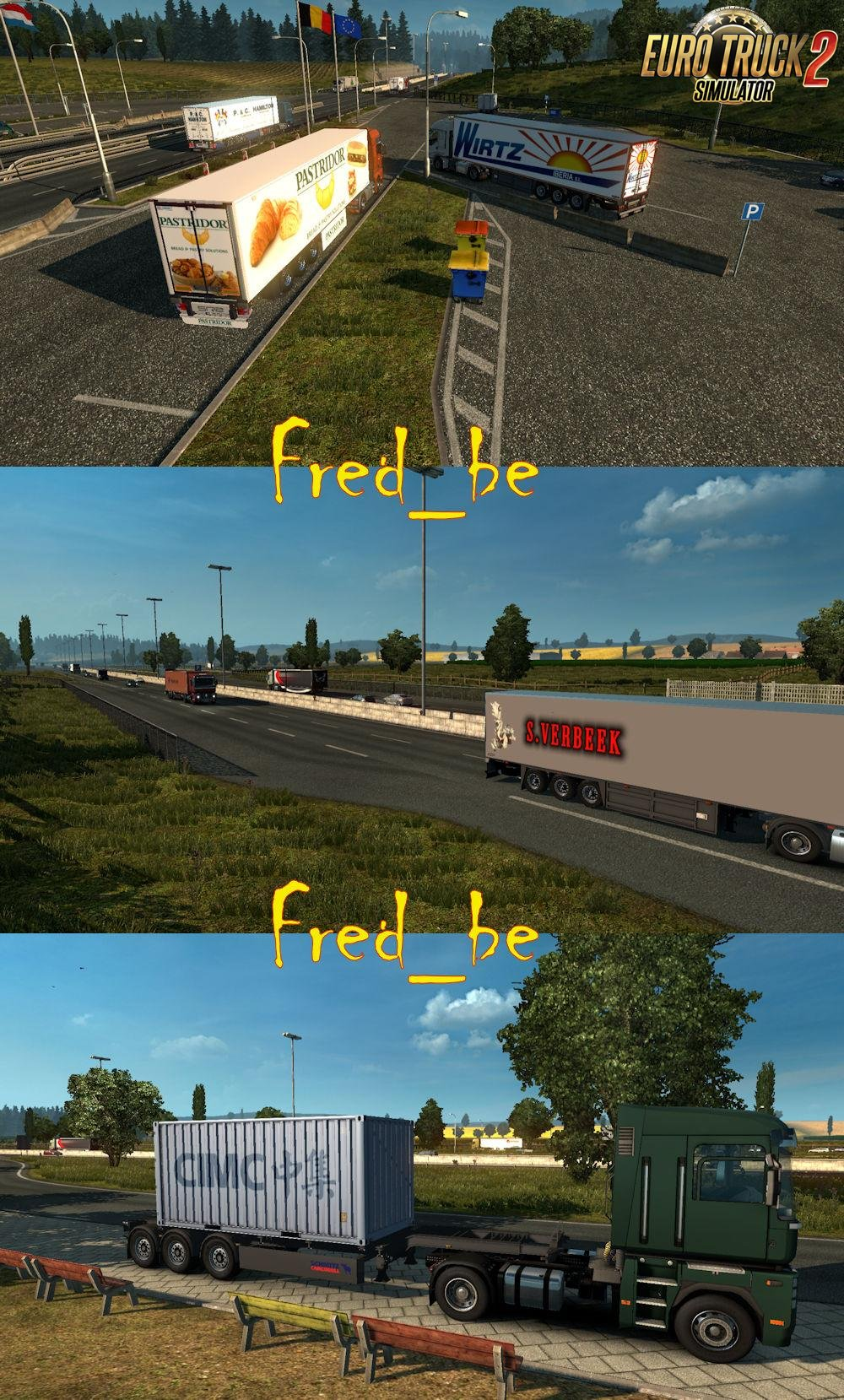 Painted Trailer Traffic by Fred_be v1.27 [1.27.x]
