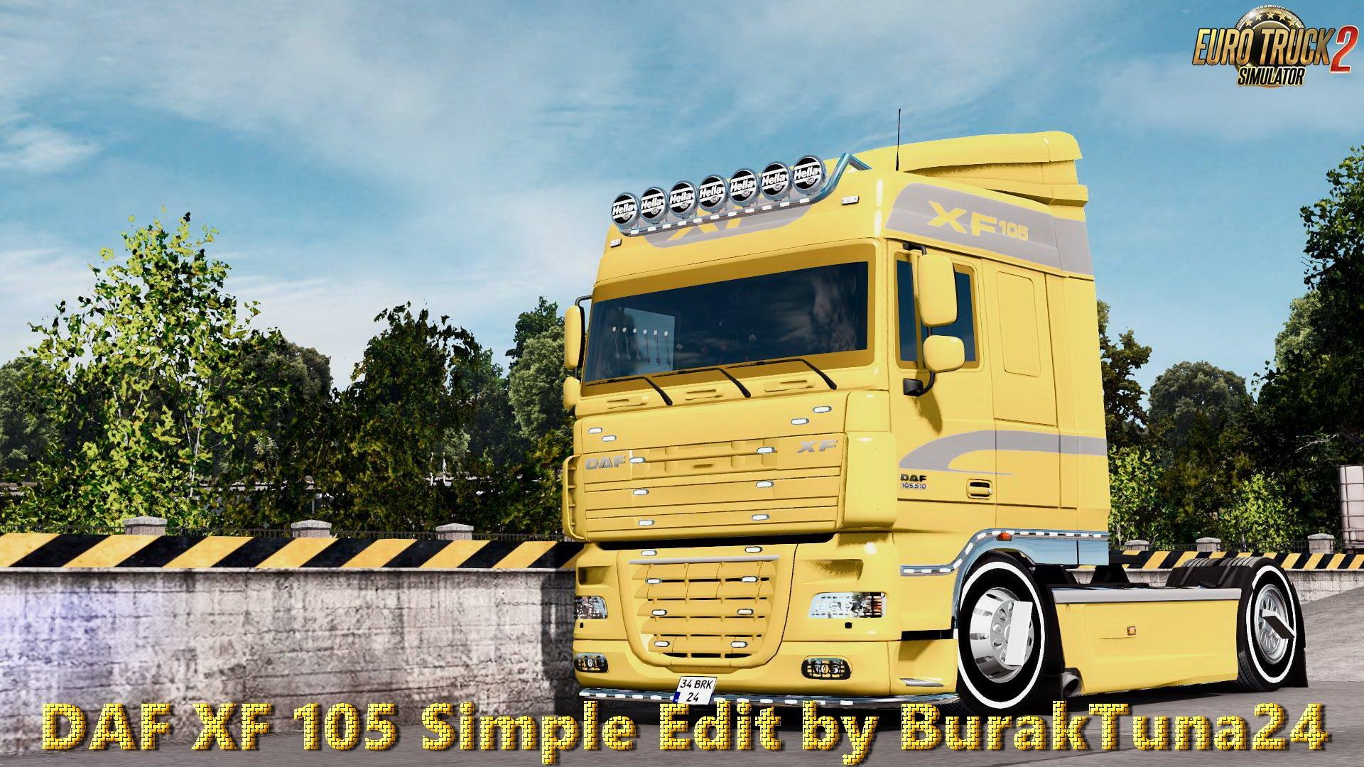 daf xf 105 simple edit v1 0 by buraktuna24 ets2. Black Bedroom Furniture Sets. Home Design Ideas