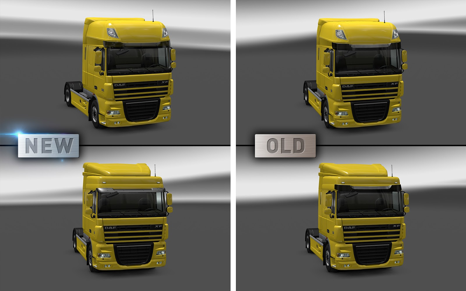 Update info and DAF XF 105 improvements
