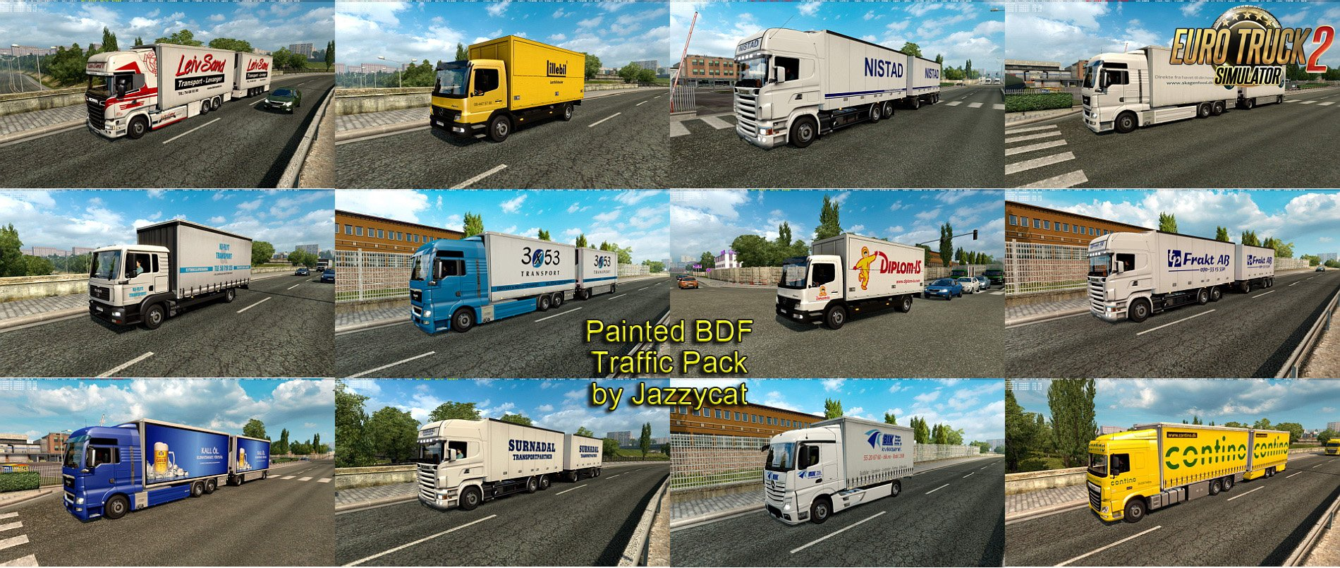 Painted BDF Traffic Pack v2.0 by Jazzycat