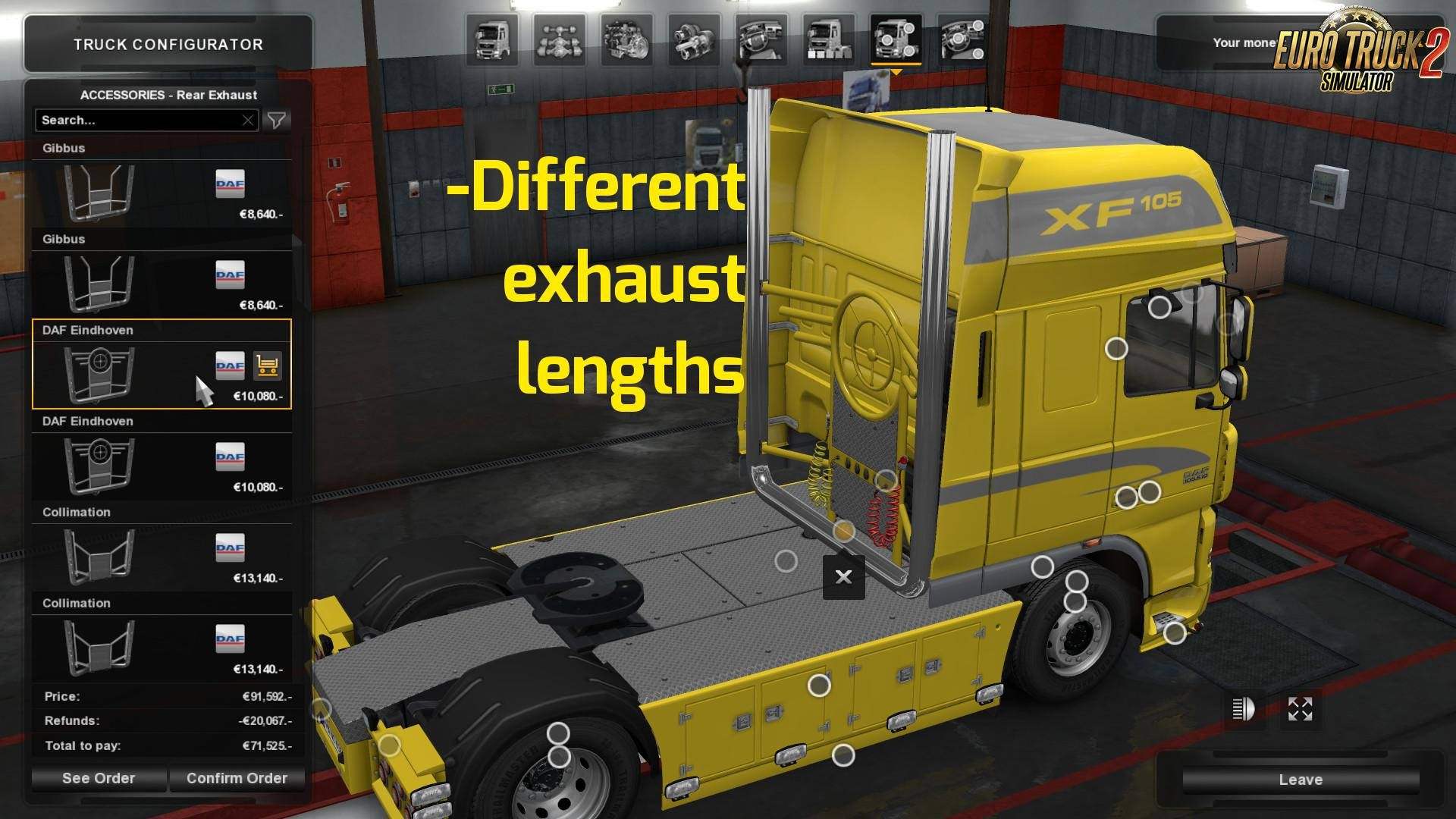 DAF Tuning Pack Light Addon - MP compatible