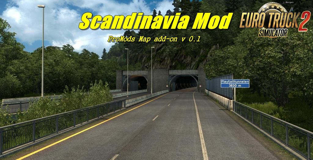 Scandinavia Mod, ProMods Map add-on v 0.1[1.28.x]