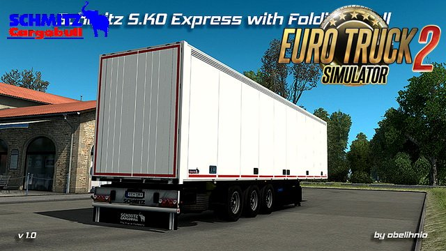 Trailer Schmitz S.KO Express with Folding Wall (Reworked) v1.0 (1.28.x)