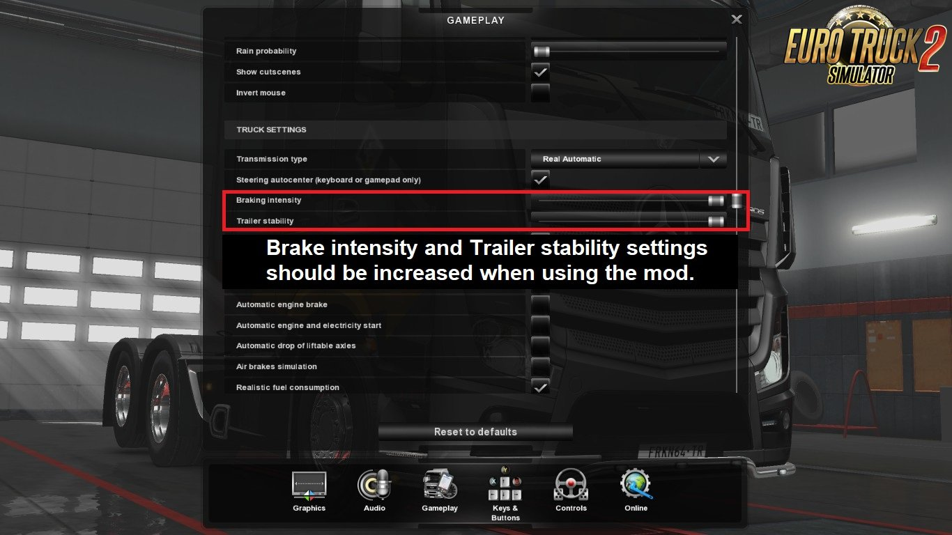 Flexible Truck Physics v1.8 by Frkn64 Modding (1.31.x) for ETS 2