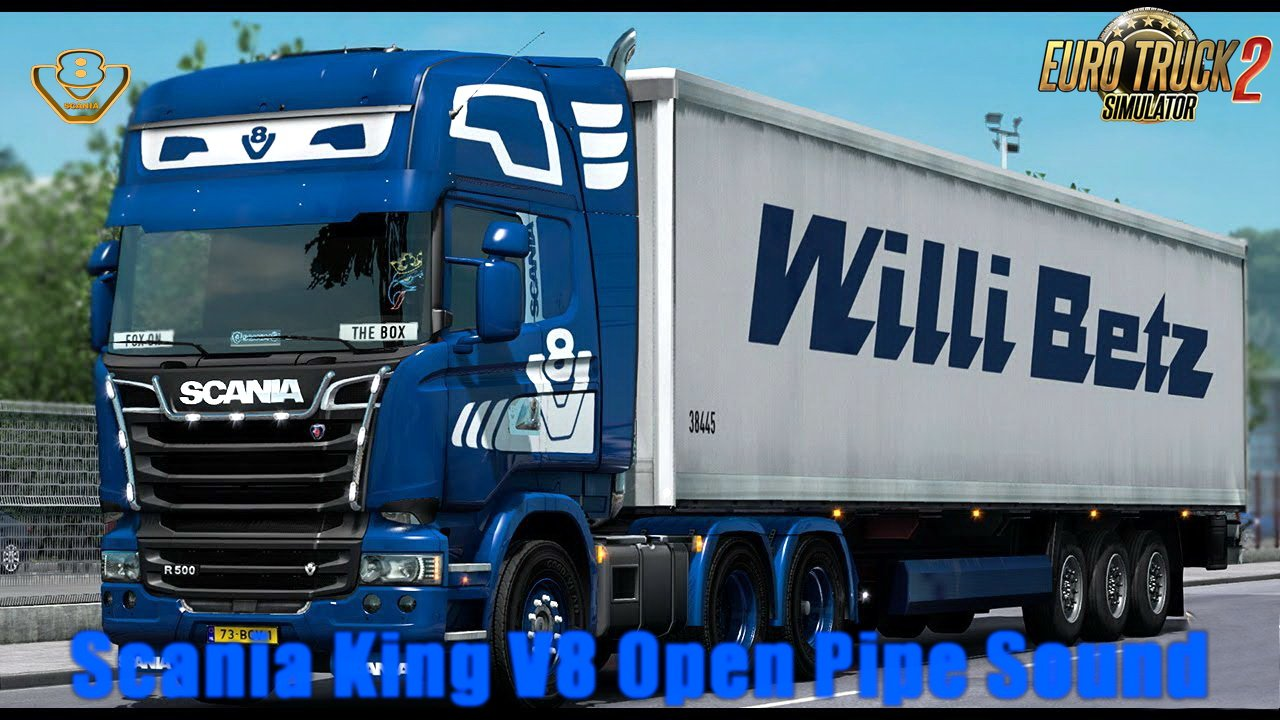 Scania King V8 Open Pipe Sound v1.0 by (1.28.x)