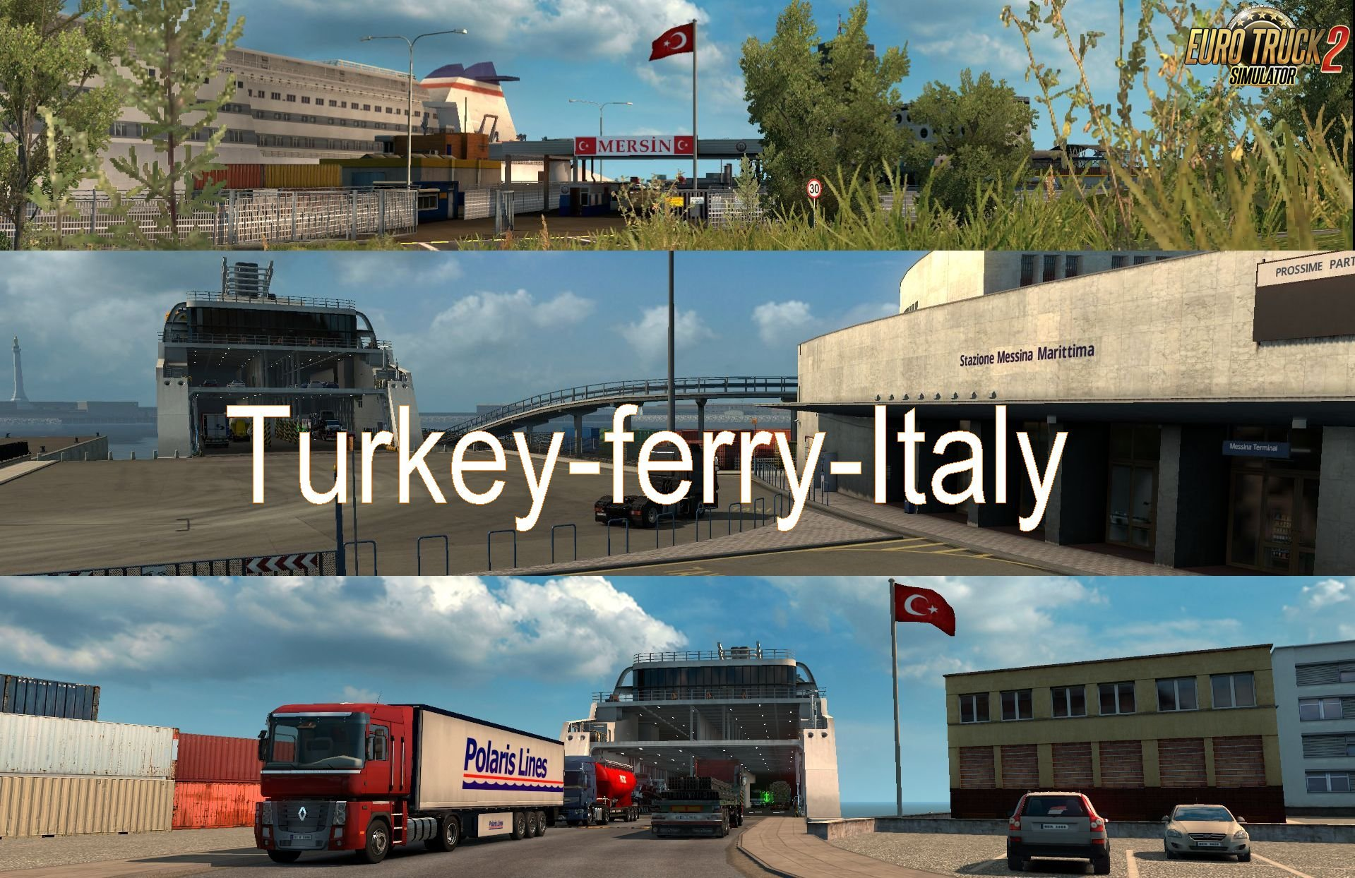 Turkey-Italy Ferry Connection Map for Ets2 [1.30.x]
