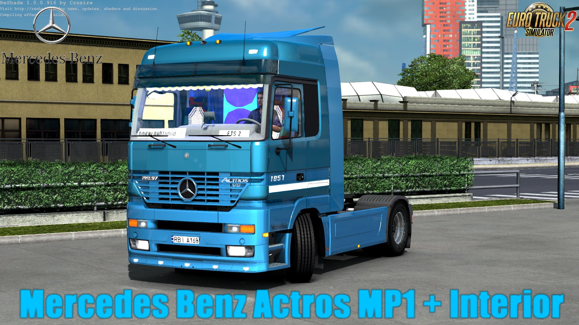 Mercedes Benz Actros MP1 + Interior v1.0 (Update by KrewlexDesings) (1.30.x)