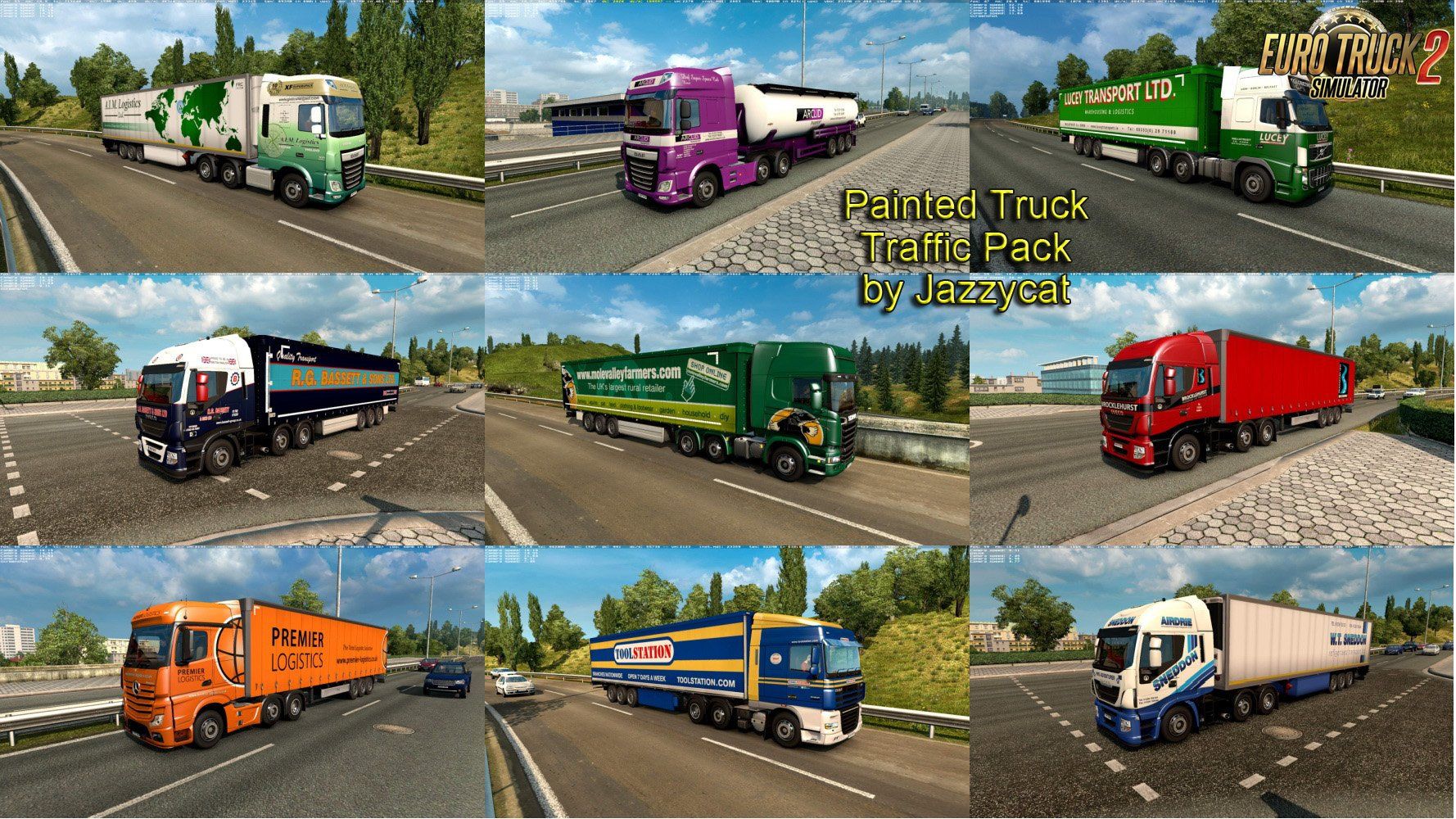Painted Truck Traffic Pack v5.0 by Jazzycat