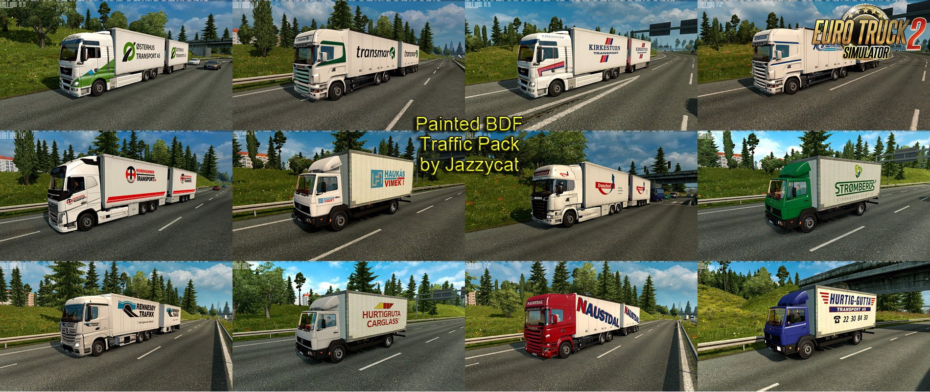 Painted BDF Traffic Pack v2.5 by Jazzycat