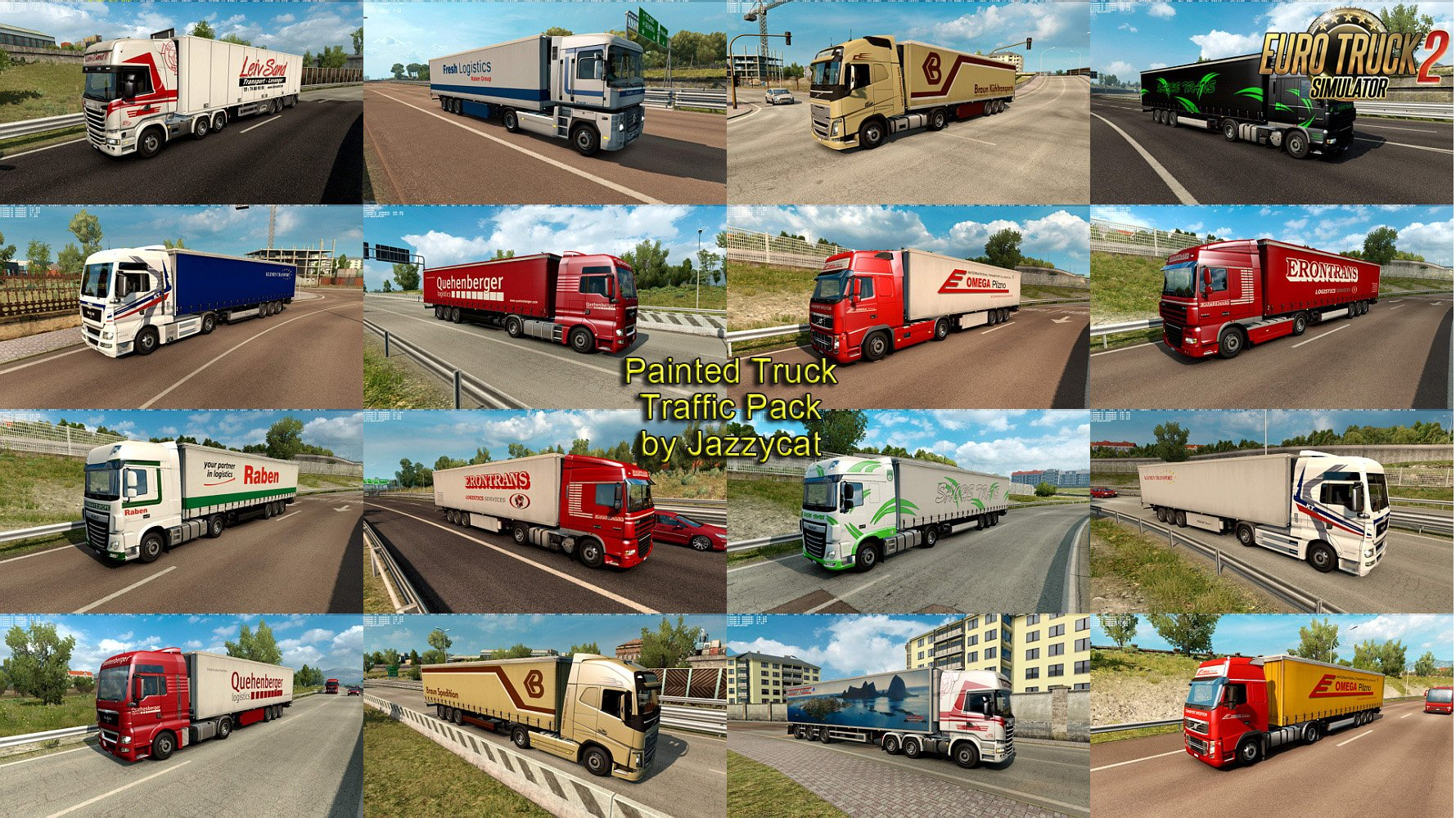 Painted Truck Traffic Pack v5.1.1 by Jazzycat