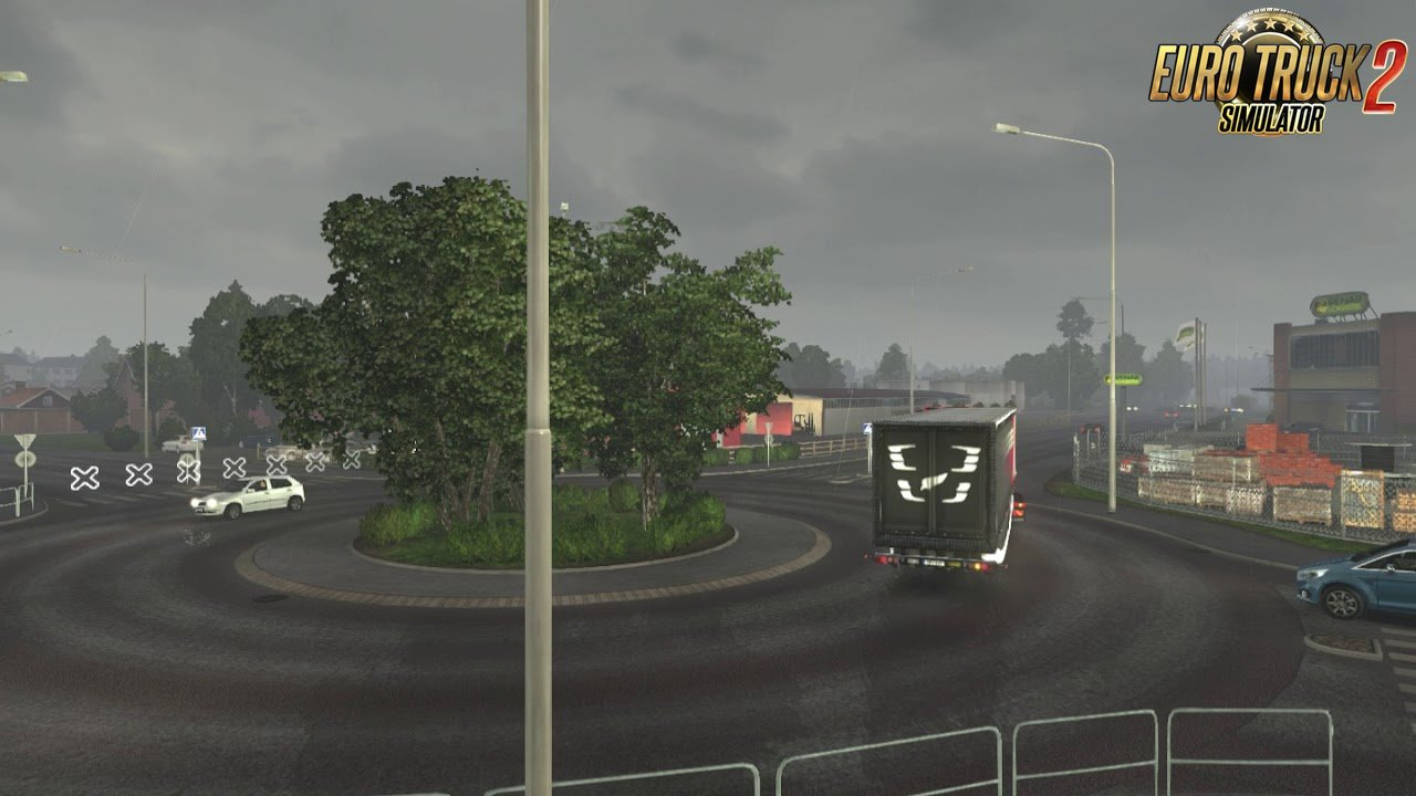 Less rain strips for Ets2 and Ats