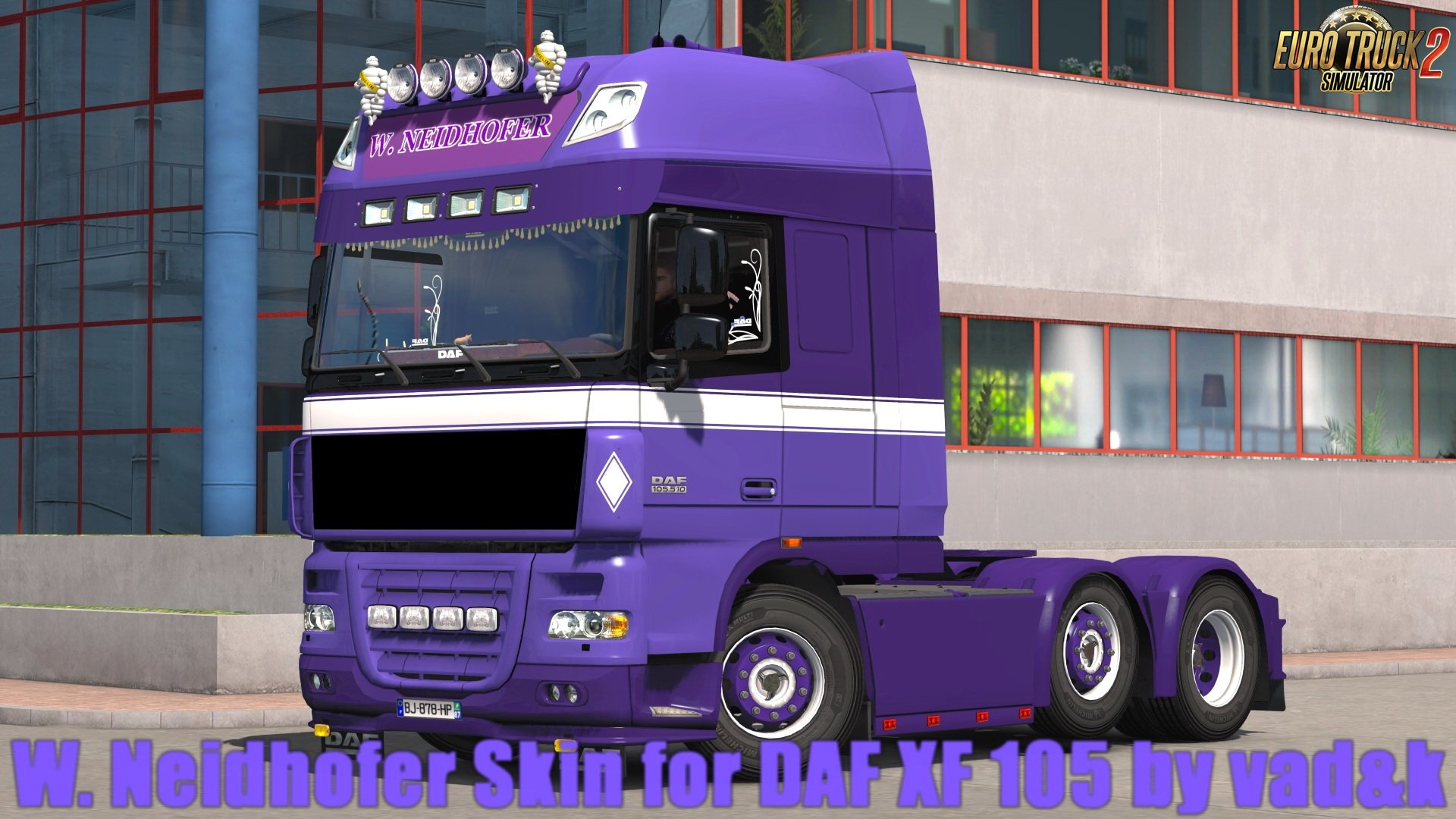 W. Neidhofer Skin for DAF XF 105 by vad&k v2.0 (1.30.x)
