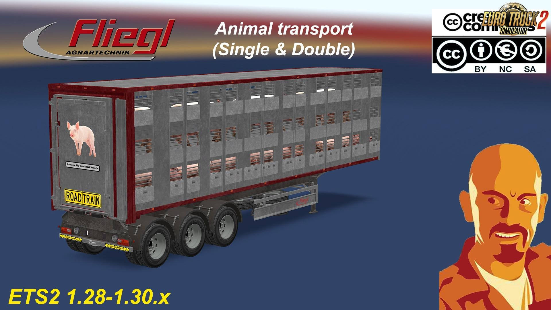 Fliegl Animal Transport Trailer (Single & Double) [1.30.x]