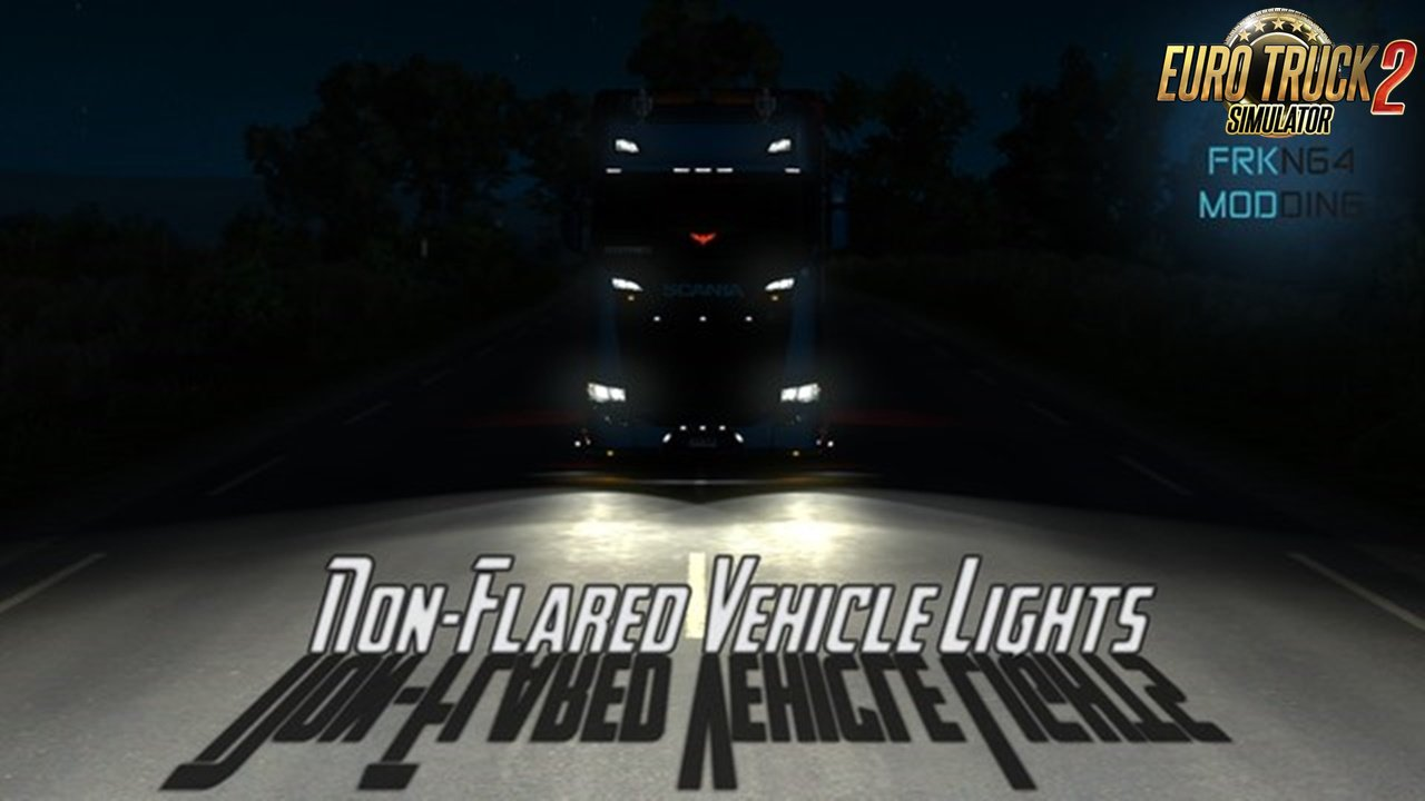Non-Flared Vehicle Lights v4.1 (1.39.x) for ETS2