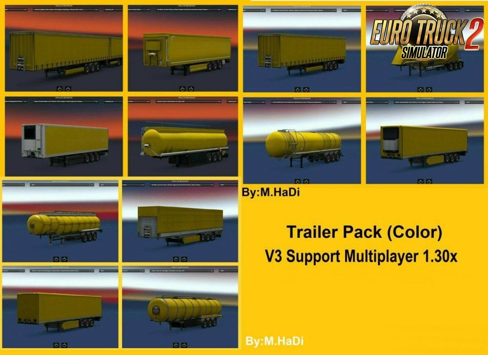Colorful Trailer Pack v3 for Multiplayer & Single player