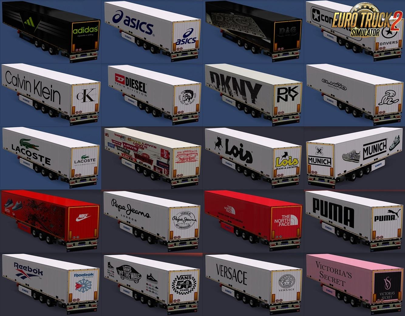 Trailers of Real Brands of Clothes and Footwear for Ets2