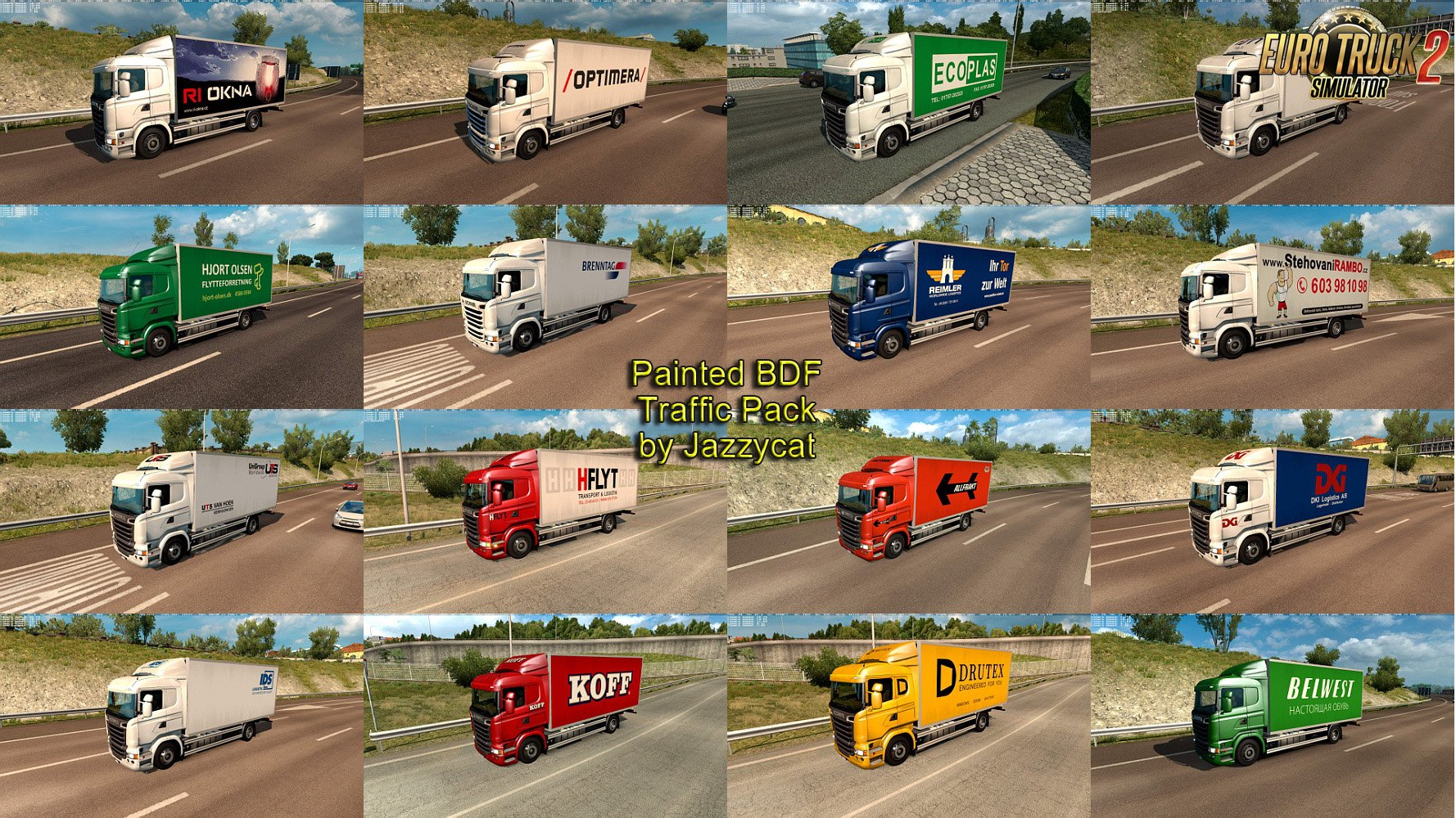 Painted BDF Traffic Pack v2.7 by Jazzycat