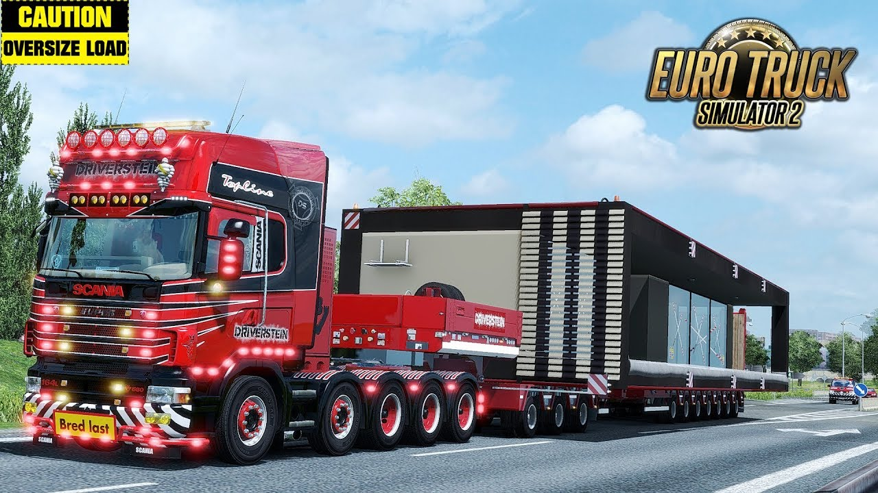 Container House with Special Transport DLC Escort v1.0 by SASq (1.30.x)