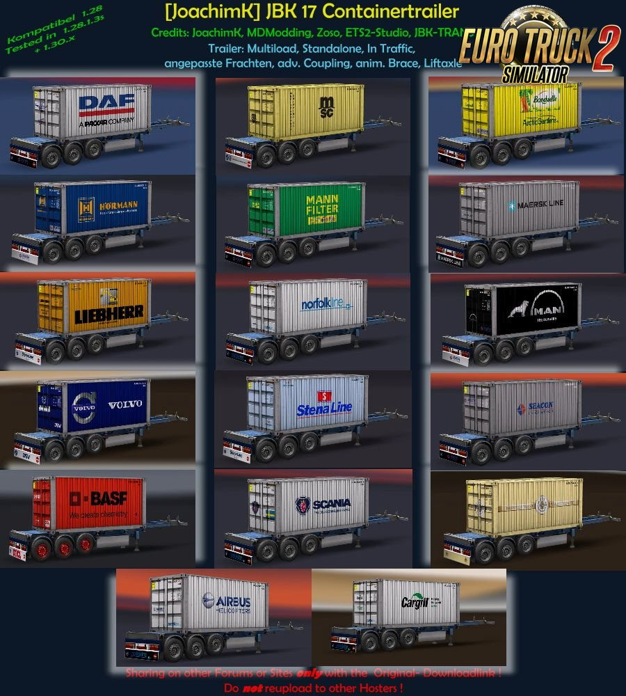 JBK Containerpack v3 for Ets2