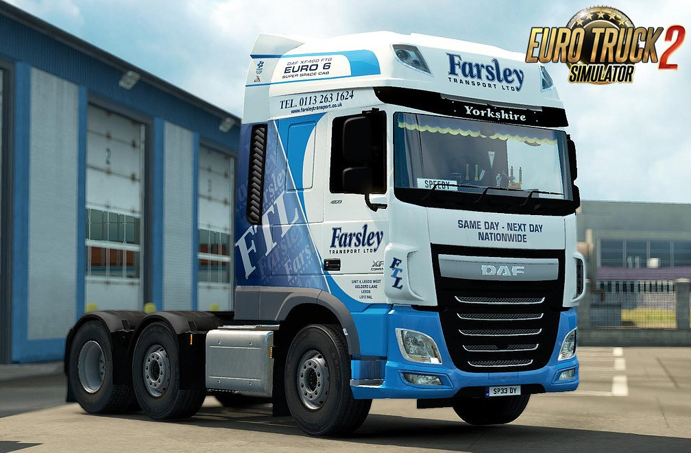 Skin Farsley Transport for DAF Euro 6 v1.0 by Speedy143 (1.30.x)
