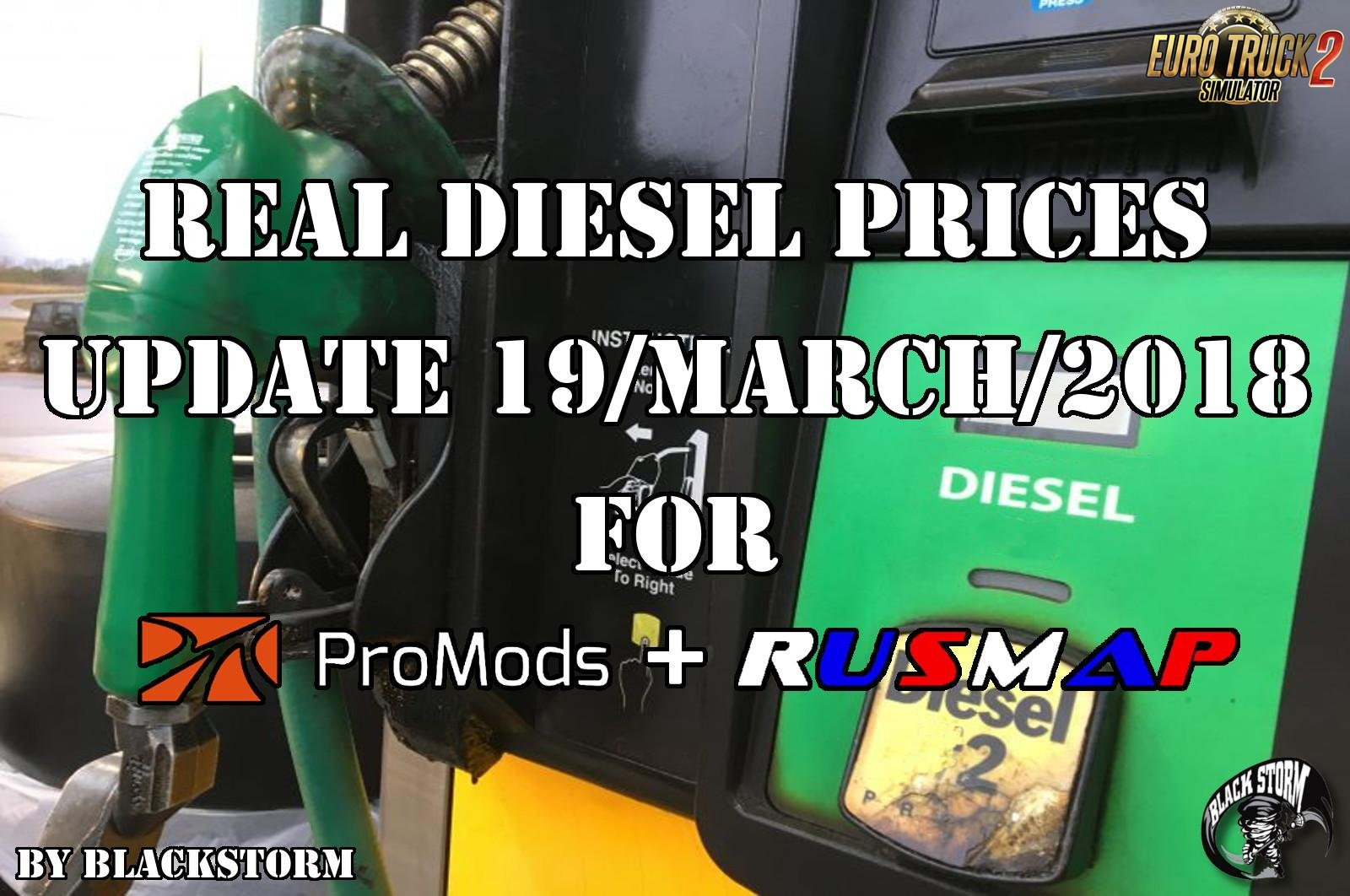 Diesel prices for ProMods Map 2.26 & RusMap 1.8 (update 19-03-2018)